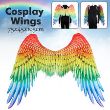Unisex Large Adult Rainbow Angel Wings Party Costume Props Mardi Gras Wings Gift