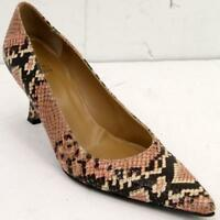 Stuart Weitzman Snake Print Embossed Leather Multicolor Women's Shoes Sz 7.5 M