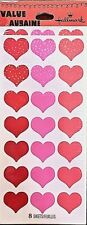 HALLMARK Red & Pink Love Heart Stickers (168 total) Valentine's Day NIP