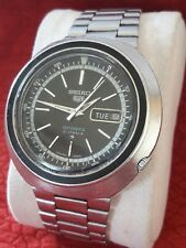 SUPER VINTAGE SEIKO 5 Sports 6119-6400 Jumbo Case Day/Date Automatic MEN'S WATCH