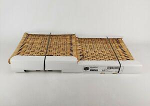 "Ikea Branas Basket Rattan 001.384.32 Woven Natural 12.5 x 12.5 x 13.5"""