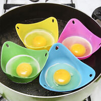 Silicone Egg Poacher Cook Poach Pods Kitchen Cookware Poached Baking Cup ST