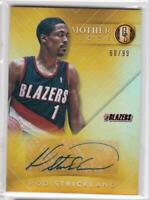 2015-16 Rod Strickland Auto #/99 Panini Gold Standard Mother Lode