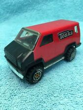 1978 Vintage Mini Small Red Tonka VAN - Made in the USA - Steal and Plastic
