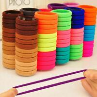 50Pcs Women Girls Hair Bands Ties Rope Rings Elastic Hairband Ponytail Holder UK