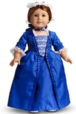 AMERICAN GIRL FELICITY CHRISTINE GOWN AND STOMACHER~MAROON BOX NIB