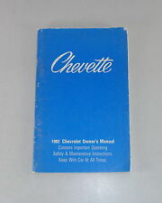 Owner's Manual / Betriebsanleitung Chevrolet Chevette Stand 1982