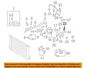 AUDI OEM 02-09 A4 Quattro-Coolant Temperature Sensor 06A919501A