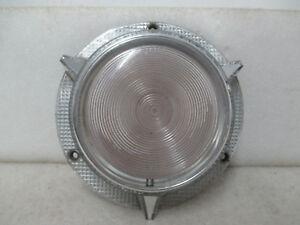 Mopar NOS 1957 Plymouth Fury Left or Right Parking Lamp Lens & Ferrule 1689859B