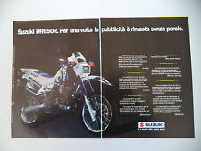 advertising Pubblicità 1991 MOTO SUZUKI DR 650 R DJEBEL