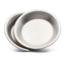 Camping Plate/Bowl set (2pcs) - Made from Food Grade 304 Stainless Steel