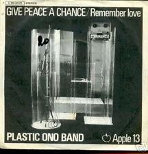 PLASTIC ONO BAND 45 TOURS GERMANY GIVE PEACE A CHANCE