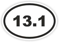 deux Marathon autocollant ovale 13.1 Tapis Mile KM série Casque vélo
