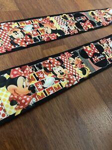 "2 Yards lot 3"" Minnie mouse grossgrain Ribbon Hair Bow Supplies."
