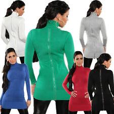 Rollkragen Pullover Pulli Sweater Reißverschluss Einheits-Größe 34 36 weich top