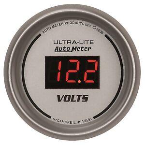AutoMeter 6593 Ultra-Lite Digital Voltmeter Gauge