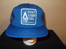 VTG-1980s Fort Cobb Fuel Oklahoma oil fields Texas Tea mesh hat sku16