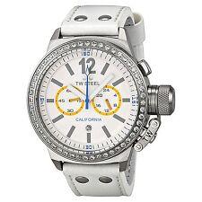 NEW TW Steel CE1043 Women's CEO California Watch Chronograph Diamond Bezel White