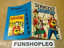ZAGOR ZENITH GIGANTE 110 - SERVIZIO SEGRETO - CON INSERTO - MAGGIO 1970 - L. 200