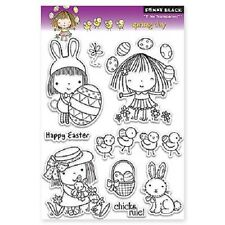 PENNY BLACK RUBBER STAMPS CLEAR SPRING DAY MIMI EASTER NEW clear STAMP SET