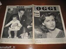 RIVISTA OGGI 1958/2=LORELLA DE LUCA=CAROLINA DI MONACO=SOFIA LOREN=BOLDRIN A.