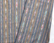 2½ Yards Cotton Ikat. Gray Hand-Dyed Hand-Woven Fabric Orissa India Homespun DIY