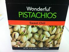 Wonderful Pistachios 'GET CRACKIN' 12 x 1.5 oz Bags. Sweet chili Flavor.