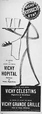 PUBLICITÉ 1954 VICHY CELESTINS ÉTAT HOPITAL GRANDE GRILLE AU RÉVEIL - SERVEUR