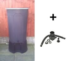 200 LITRE BLACK WATER BUTT WITH  STAND TAP & LID + DIVERTER KIT ALL MADE IN UK
