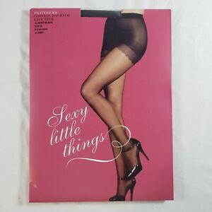 Victoria's Secret Sexy Little Things Pantyhose sz B Almost Black Flatter Me
