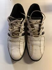 Adidas mens golf shoes Size 10 White With Black Stripes