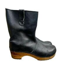 Sanita Mohawk Clogs Distressed Leather Boots Navy Size 42 10.5 Womens