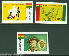 GHANA 50th ANNIVERSARY OF SCOUTING IN GHANA IMPERFORATED SET MINT NH