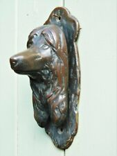 More details for vintage brass afghan hound dog door knocker