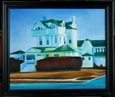 "Original Oil on Canvas ""Spring Lake House"" by Ross D Jahnig"