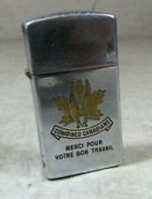 Vintage 1950's? Zippo Slim Combined Canadians Lighter Canada Rare HTF Military?
