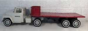 Vintage Ertl Semi Stake Flat Bed Truck Trailer
