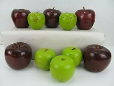 10 Wooden Apples Red Green Farm House Decor