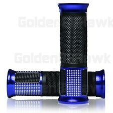 "Universal Motorcycle Blue Rubber Gel Hand Grips For 7/8"" Handlebar Honda Suzuki"