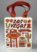 Starbucks Been There Las Vegas Tote Bag Ornament Gift Card Holder Ceramic