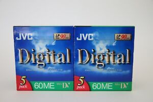10x JVC DVC 60/90 min, OVP, NOS, Digital Video Cassette