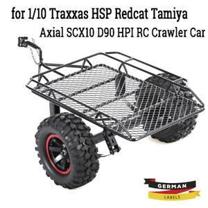 Anhänger Auto Hopper Trail Anhänger für 1/10 Traxxas RC4WD Crawler Car DIY D9K2