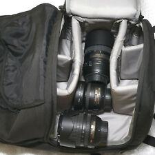 3 Lens DX AF-S Set; 18-105mm, 55-300mm VR; 35mm (Nikon F) & Lowepro Fastpack 250