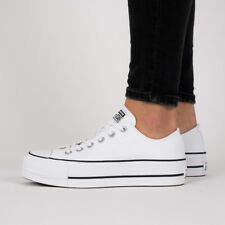 c1c72e9cfbe Converse Chuck Taylor All Star Lift Low Top White 560251c Platform Womens  Size 8