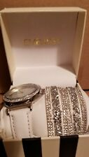 Embassy Woman's Watch White Band & Several Bracelet Combo New Style #4