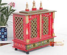 Wooden Handcrafted Hindu Temple Mandir Pooja Ghar Mandapam for Worship India