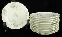 ANTIQUE VICTORIAN THEODORE HAVILAND LIMOGES PORCELAIN DESSERT PLATE SET 11