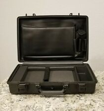 nameplate New Black Pelican ™ 1490 Attache Style Small Computer case with foam