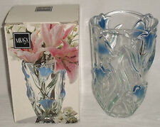 "Mikasa Vase TULIPS 8"" Germany Crystal NEW In Box Green Blue"