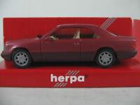 Herpa 031455 Mercedes-Benz E 320 Coupé (1993) in almandinrotmet. 1:87/H0 NEU/OVP